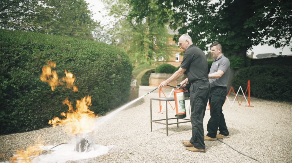 Fire Warden Training with fire extinguishers